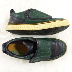 L.A.M.B. Sample Black & Green Leather Sneakers